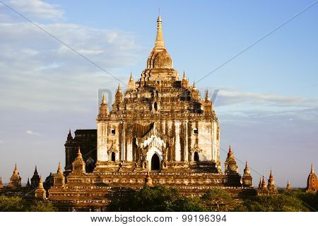 Landscape Detail View Of Ancient Temple Thatbyinyu In Bagan