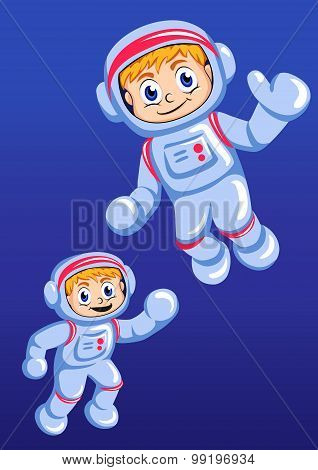 Little spaceman  illustration