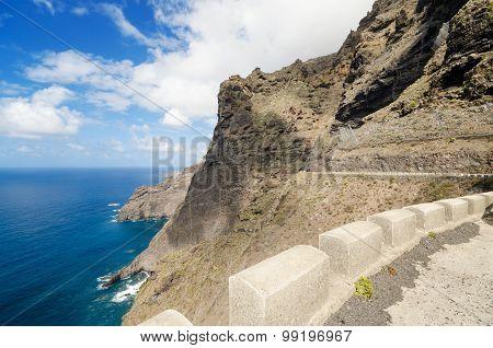 Scenic coastline landscape Punta de Teno Tenerife Canary Island Spain.
