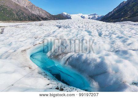 Lake on Kennicott glacier,Wrangell-St. Elias National Park, Alaska
