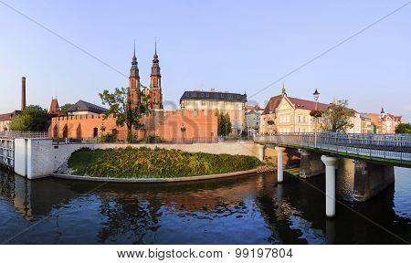 Central Part Opole City At Sunset