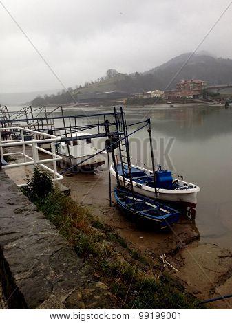 Boats on mooring