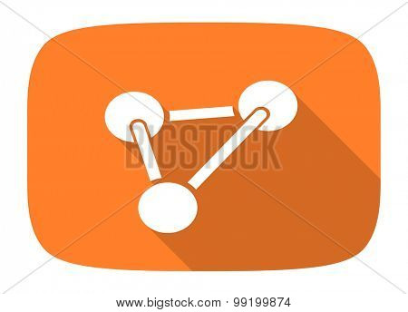 chemistry flat design modern icon with long shadow for web and mobile app