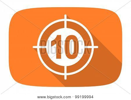 target flat design modern icon with long shadow for web and mobile app