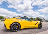Постер, плакат: 2014 Chevrolet Corvette Woodward Dream Cruise MI