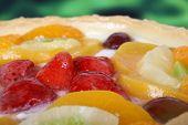 Summer Garden Fruits In A Sweet Glazed Cream Pie Dessert poster
