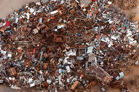 picture of scrap-iron  - Collection point metals and iron scrap in Susice - JPG