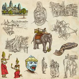 pic of freehand drawing  - Travel CAMBODIA  - JPG