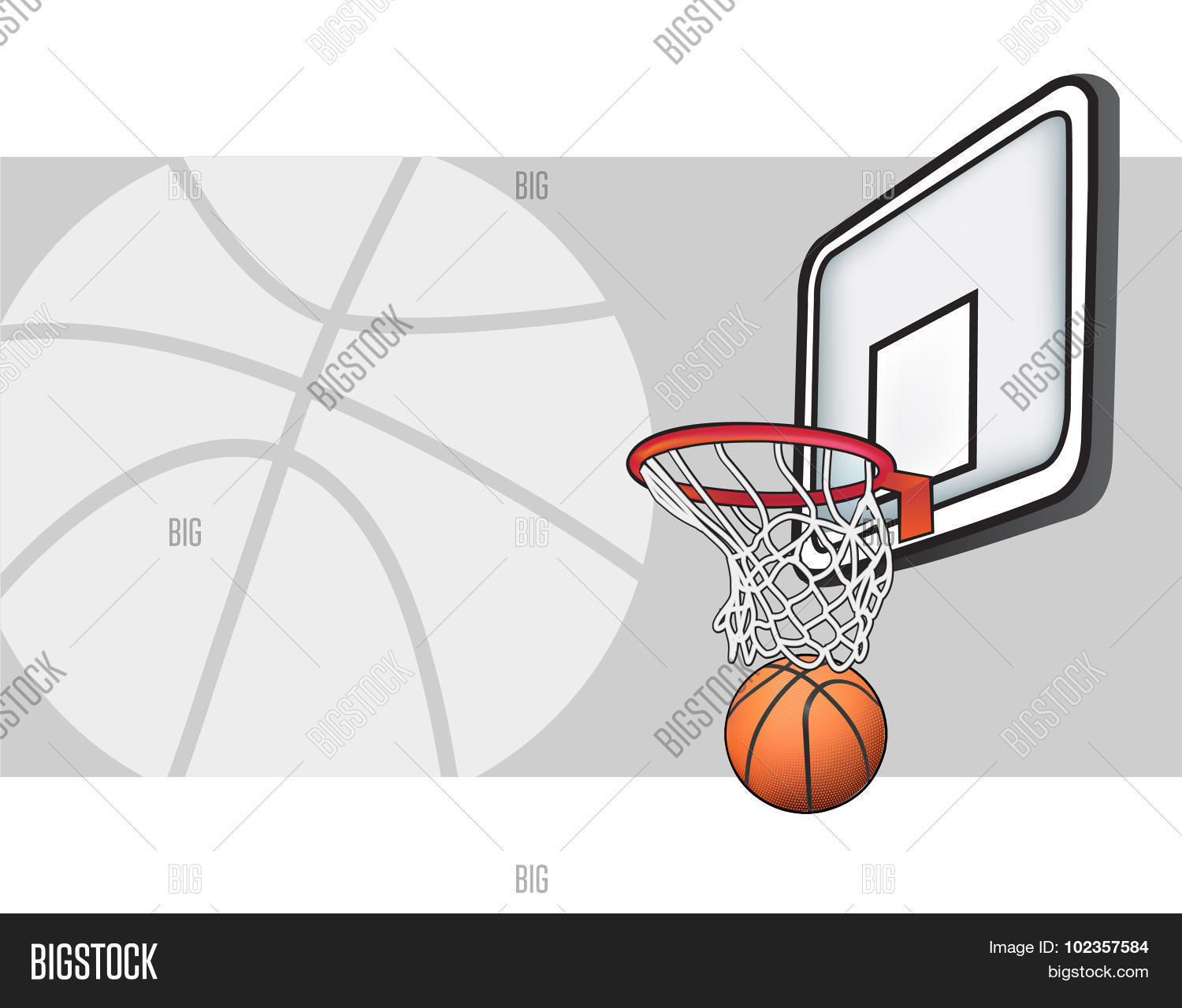 Excellent basketball hoop vector images