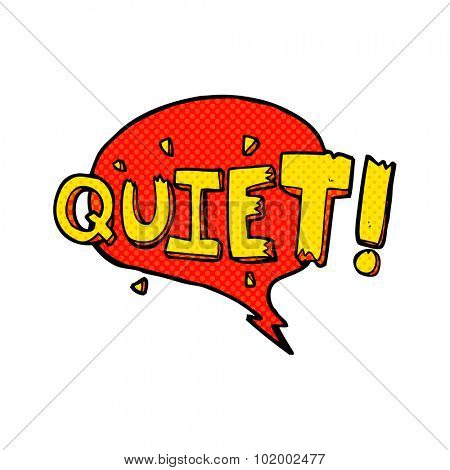 comic book style cartoon comic book shout for quiet