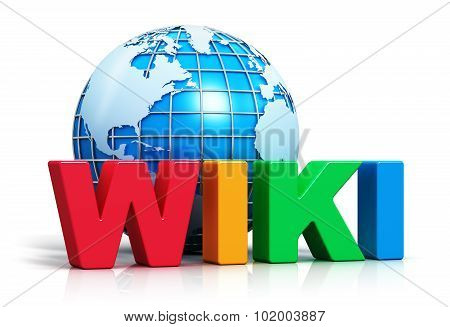 Wiki text and Earth gobe