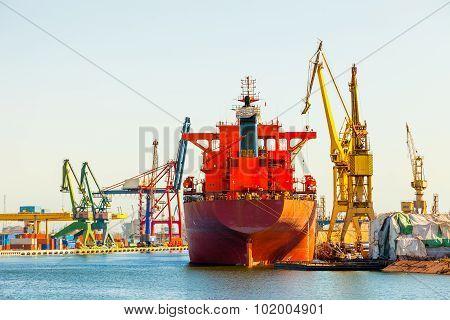 Ship At The Wharf