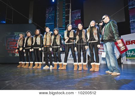 Breakdance Team Double A On Stage During Cup Of Russia