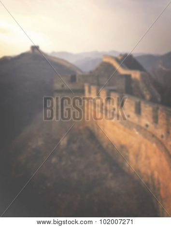 Great Wall of China Travel Destination Concept
