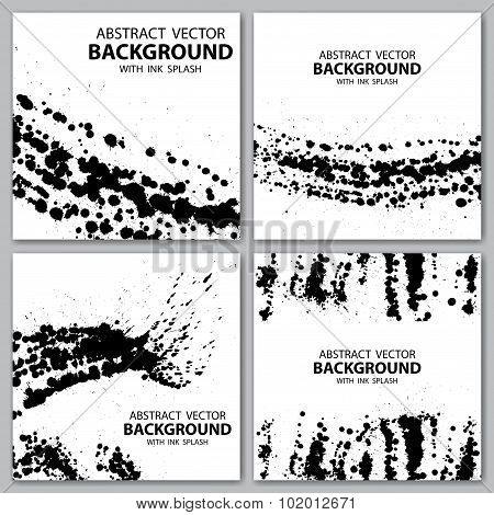 Grunge blots backgrounds
