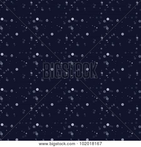 White Snow Falling On Dark Background