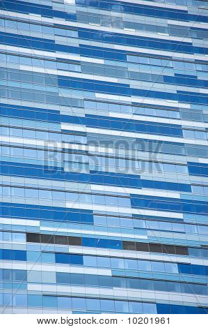 Blue building background