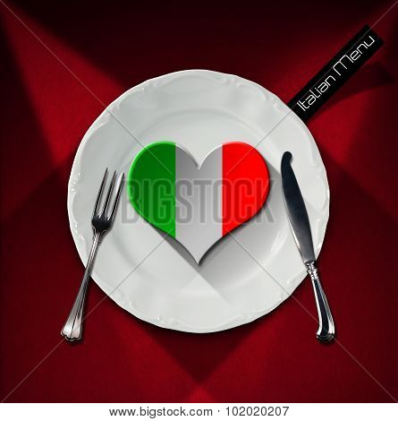 Healthy Italian Food - Restaurant Menu Design
