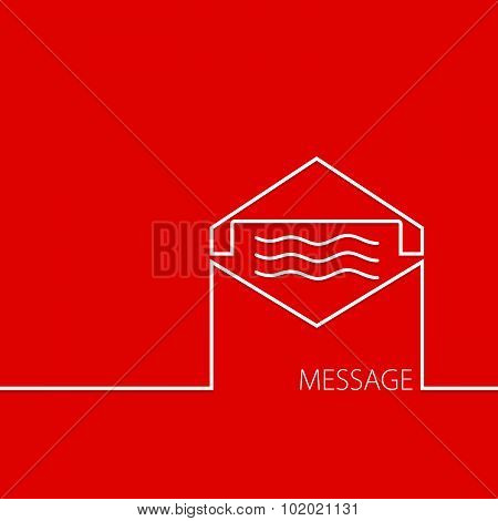Message In Red Vector