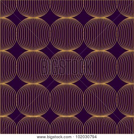 Vector Seamless Pattern. Circle Design. Illustration