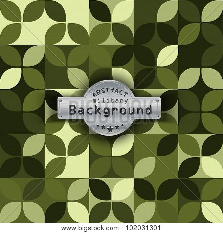 Camouflage military pattern with petals background. Vector illustration, EPS10