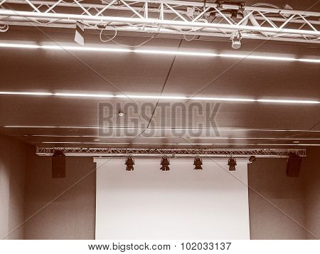 Retro Look Stage Lights And Speakers