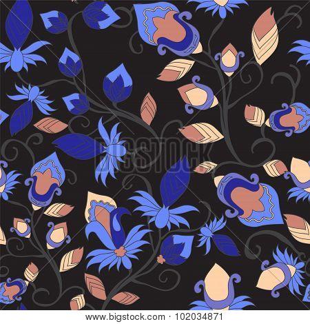 Seamless Paisley Pattern.orient Design. Vector Illustration