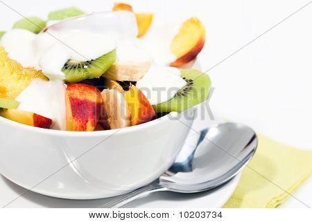 Bowl Of Fresh Fruit And Yogurt