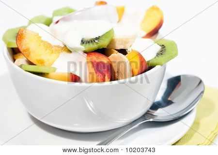 Bowl Of Fresh Fruit And Yogurt