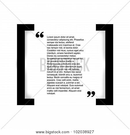 Quote bubble Typographical Poster Template.