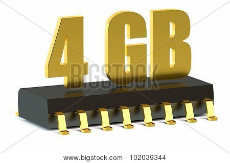 4 Gb Ram Or Rom Memory Chip For Smartphone And Tablet