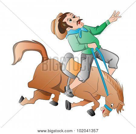 Rodeo, vector illustration