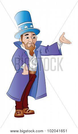 Magician, vector illustration