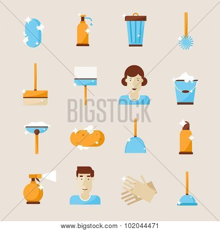 Cleaning and hygiene tools.