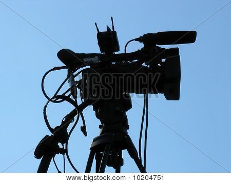 Professional Studio Digital Video Camera Shape Silhouette