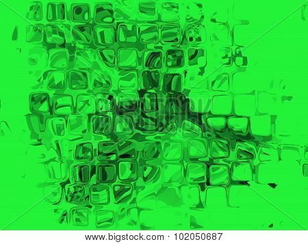 Green Cube Shape Pattern As Abstract Background.