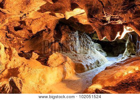 Krychtaleva cave indoor view, take it in Ukraine