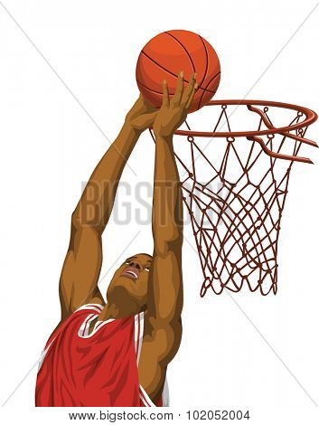 of basketball player in action.