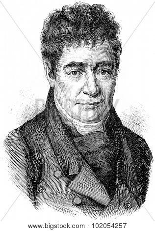 Silvestre de Sacy, vintage engraved illustration. History of France   1885.