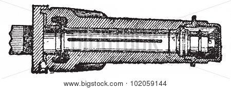Patent axle, vintage engraved illustration. Industrial encyclopedia E.-O. Lami - 1875.