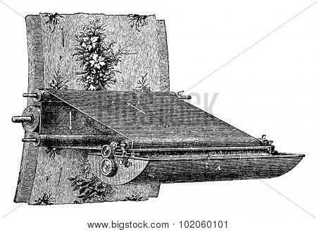 Various elements of the printing wallpaper, vintage engraved illustration. Industrial encyclopedia E.-O. Lami - 1875.