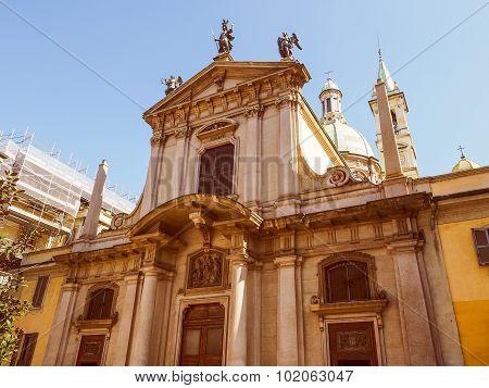 Retro Look St George Church In Milan