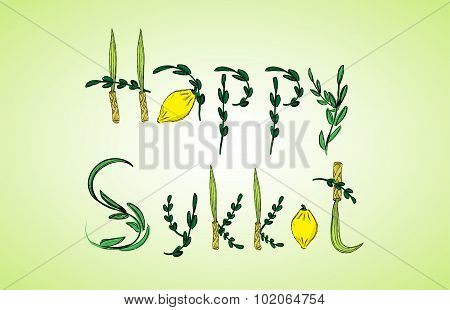 Holiday Sukkot, congratulation
