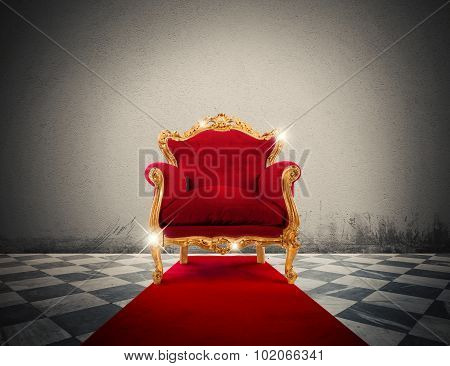 Luxury sparkling  armchair