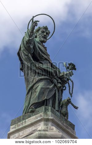 Statue Of San Domenico In Naples, Italy