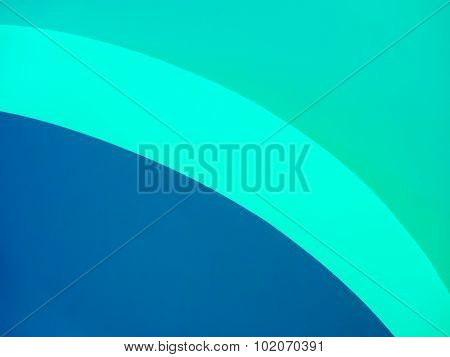Blue and Turquoise Graphic with Curved Lines