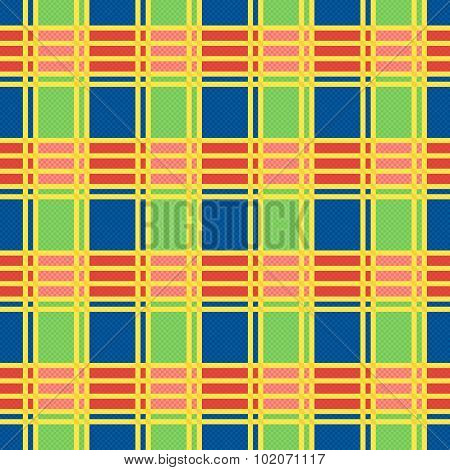 Rectangular Seamless Pattern In Motley Colors