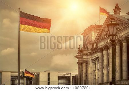 One of the famous popular travel place in world - Berlin, under sunlight.