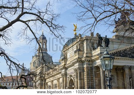 View From Bruhl Terrace Towards George Treu Square, Dresden, Germany.