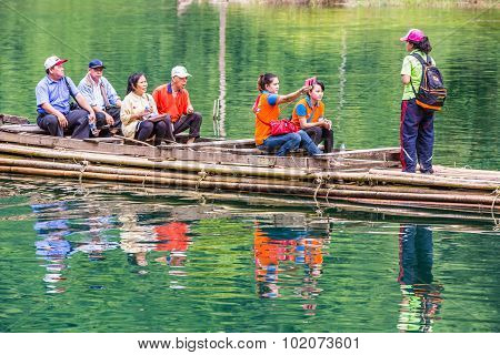 Tour On Bamboo Raft